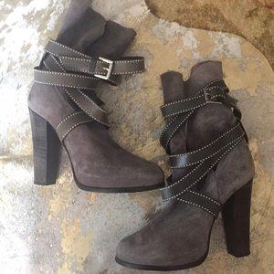 Barbara Bui gray suede boots